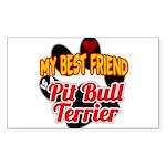 Pit Bull Terrier Sticker (Rectangle)