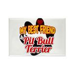 Pit Bull Terrier Rectangle Magnet