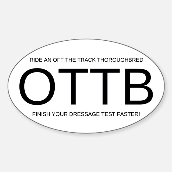 FHS OTTB Sticker (Oval 10 pk)