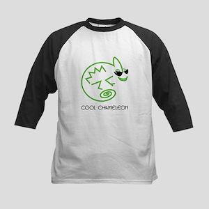 Cool Chameleon Kids Baseball Jersey