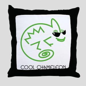 Cool Chameleon Throw Pillow