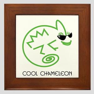 Cool Chameleon Framed Tile