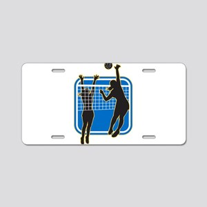 Volleyball Indoor Woman Aluminum License Plate
