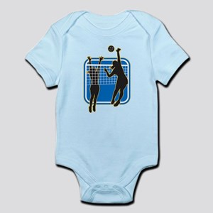 Volleyball Indoor Woman Infant Bodysuit