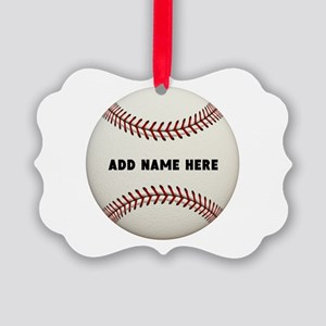 Baseball Name Customized Picture Ornament