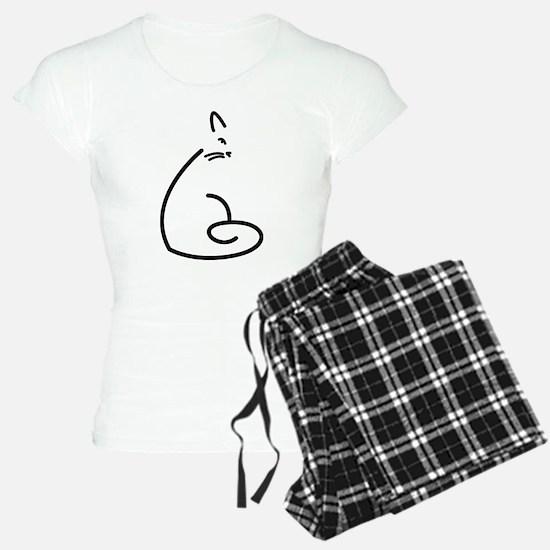 Artistic Swirly Cat Pajamas
