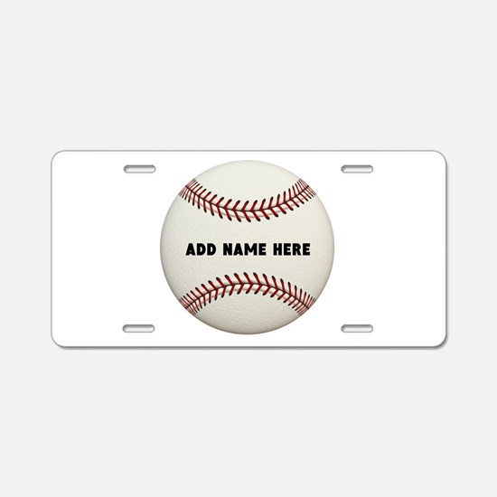 Baseball Name Customized Aluminum License Plate
