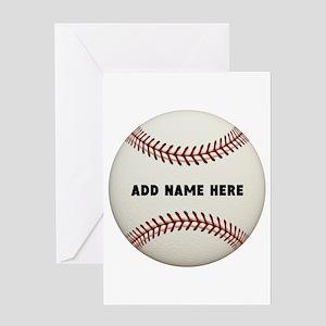 Baseball Name Customized Greeting Card