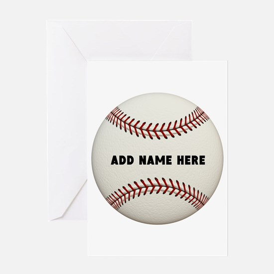 Baseball Name Customized Greeting Card