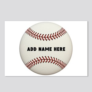 Baseball Name Customized Postcards (Package of 8)