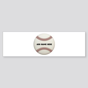 Baseball Name Customized Sticker (Bumper)