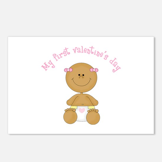 Ethnic Baby 1st Valentine Postcards (Package of 8)