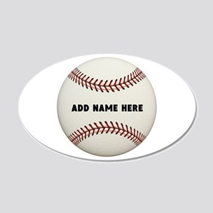 Baseball Name Customized 20x12 Oval Wall Decal