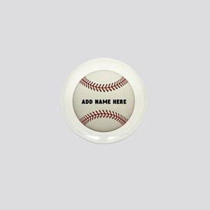 Baseball Name Customized Mini Button