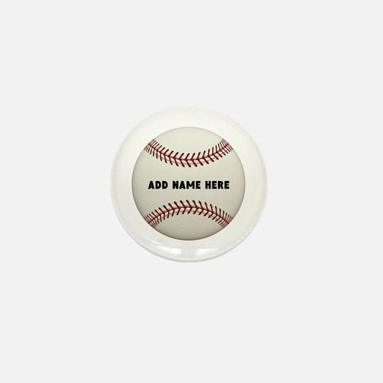 Baseball Name Customized Mini Button