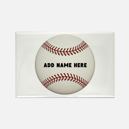 Baseball Name Customized Rectangle Magnet
