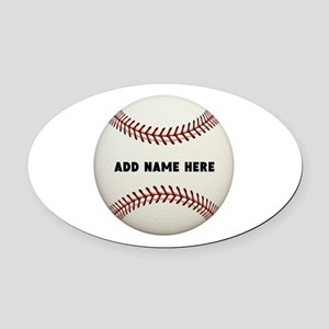 Baseball Name Customized Oval Car Magnet