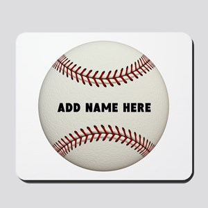 Baseball Name Customized Mousepad