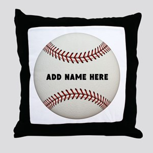 Baseball Name Customized Throw Pillow