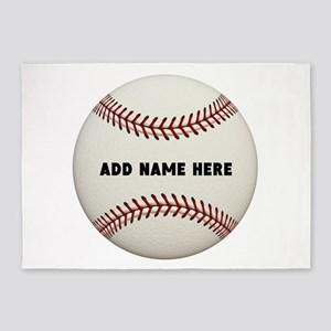 Baseball Name Customized 5'x7'Area Rug