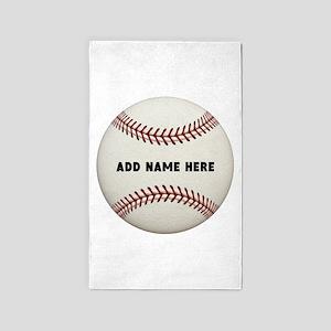 Baseball Name Customized Area Rug