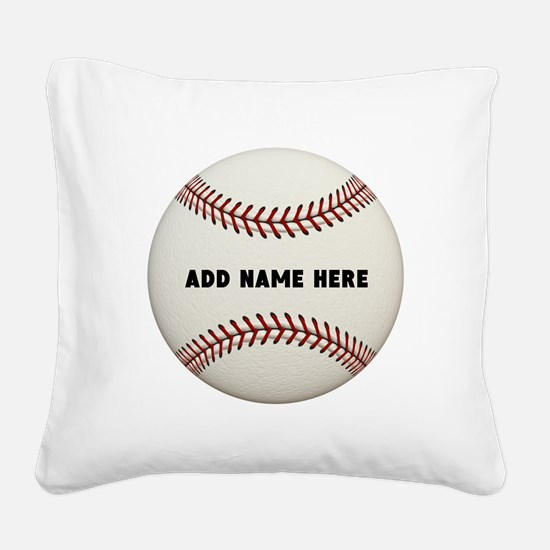 Baseball Name Customized Square Canvas Pillow