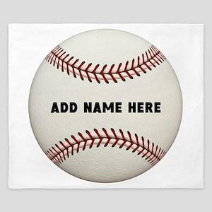 Baseball Name Customized King Duvet