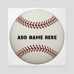 Baseball Name Customized Queen Duvet