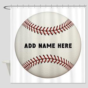Baseball Name Customized Shower Curtain