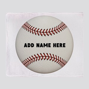 Baseball Name Customized Throw Blanket