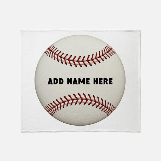 Baseball Name Customized Throw Blanket
