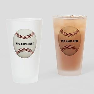 Baseball Name Customized Drinking Glass
