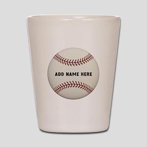 Baseball Name Customized Shot Glass