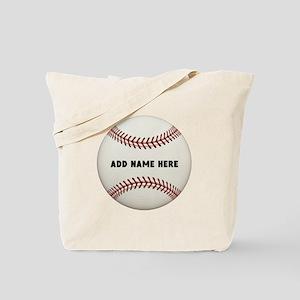 Baseball Name Customized Tote Bag