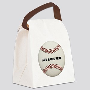 Baseball Name Customized Canvas Lunch Bag