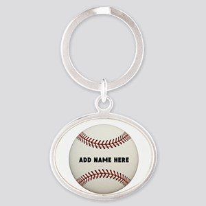 Baseball Name Customized Oval Keychain
