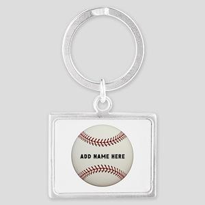 Baseball Name Customized Landscape Keychain