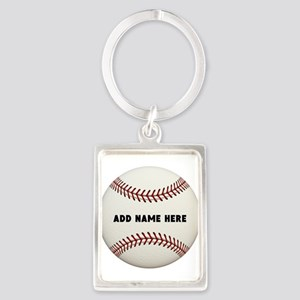 Baseball Name Customized Portrait Keychain