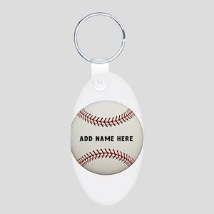 Baseball Name Customized Aluminum Oval Keychain