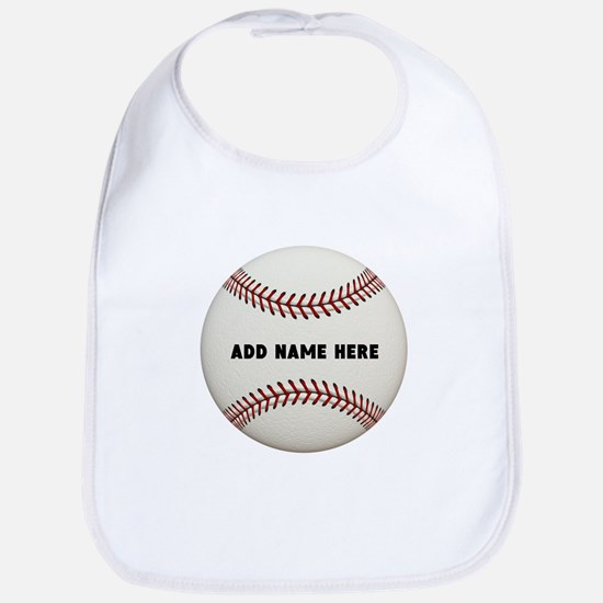Baseball Name Customized Cotton Baby Bib