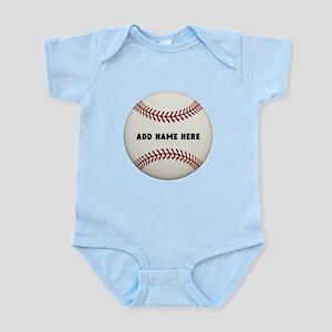 Baseball Name Customized Infant Bodysuit