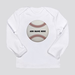 Baseball Name Customize Long Sleeve Infant T-Shirt