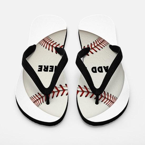 Baseball Name Customized Flip Flops