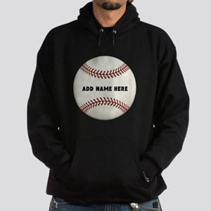Baseball Name Customized Hoodie (dark)