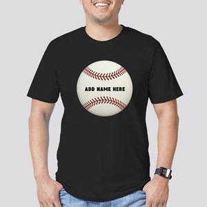 Baseball Name Customiz Men's Fitted T-Shirt (dark)