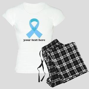 Personalized Light Blue Ribbon Women's Light Pajam