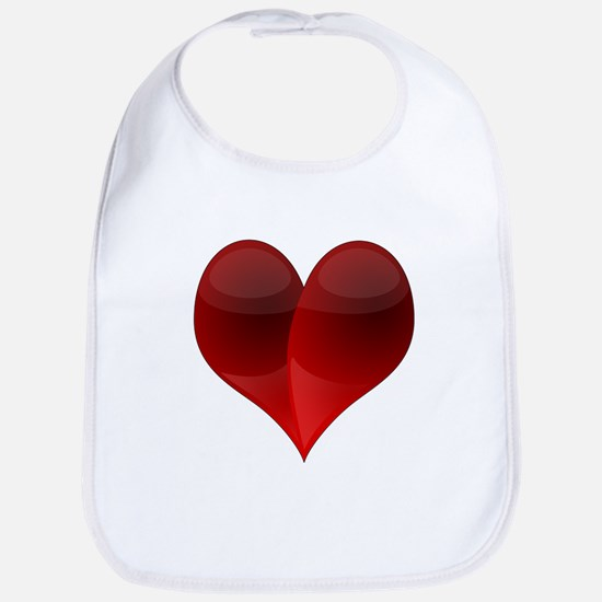 Shiny Red Heart Bib