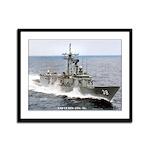 USS CURTS Framed Panel Print