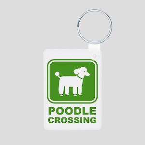 Poodle Graphic Aluminum Photo Keychain