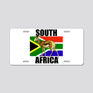 South Africa Springbok Aluminum License Plate